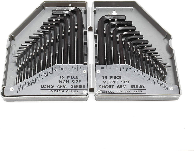 Métrique Bras Court Bras Long Clés Allen//Clé à six pans//Hexagon Key 1.3 mm à 12 mm