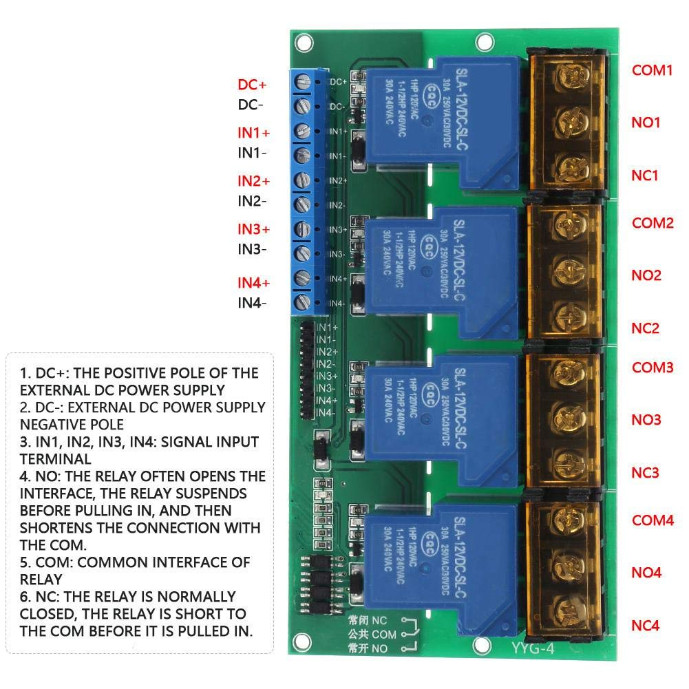 DC12V 30A Multifunctional Delay Timing on//off Optocouple Relay Module 0~60min Adjustable Load 250V AC//30V DC