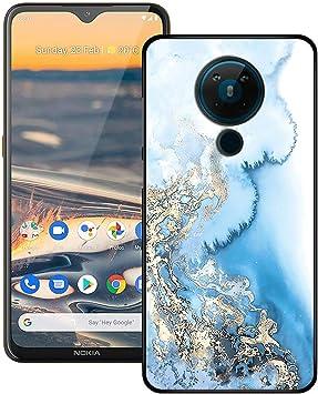 TTJ Funda para Nokia 5.3, Negro Suave Silicona TPU Delgado Flexible Shell Cover Caso Bumper Anti-Golpes Carcasa Case para Nokia 5.3 (6,55