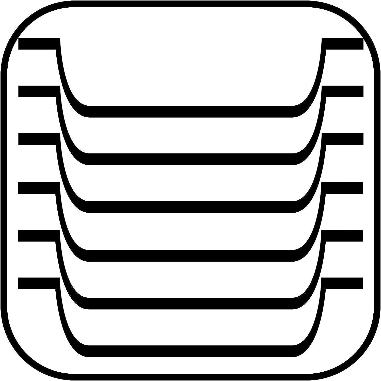 """Stapelbar und langlebig mit der Abmessung 31 x 14cm /& Obstkorb /""""Wire/"""" APS Brot Premium Brotkorb//Obstkorb in der Farbe Metall Chrom"""