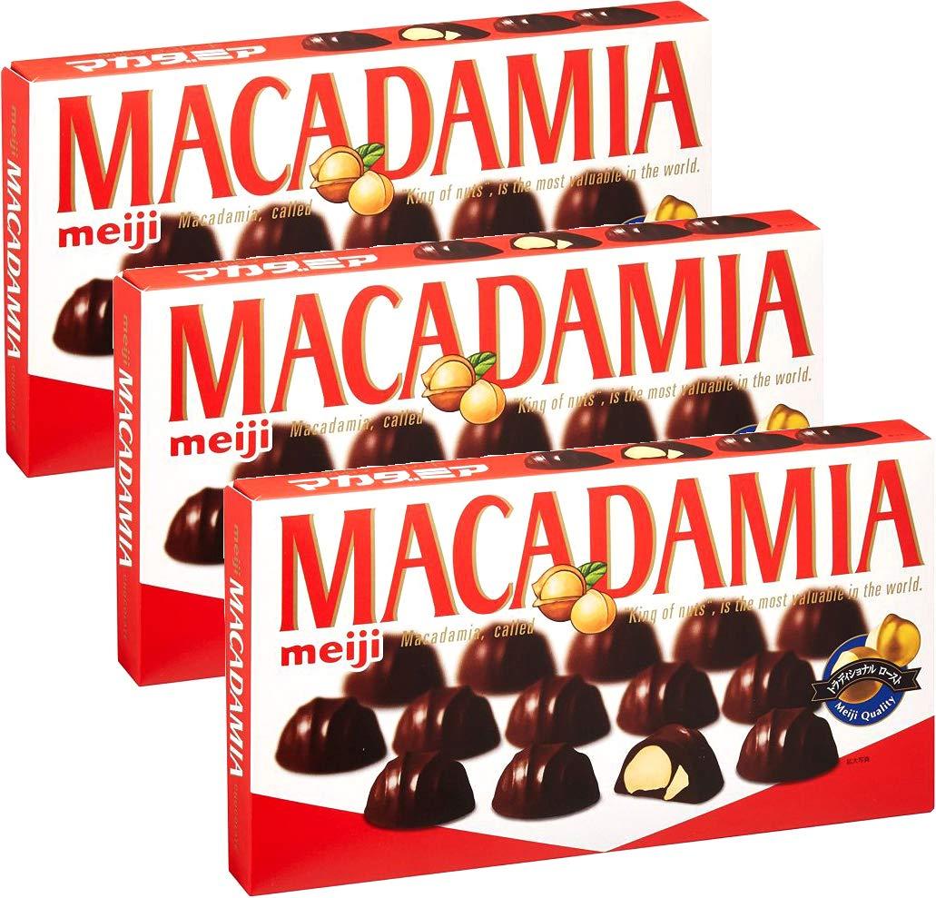 Meiji Macadamia Chocolate 2.26oz (3 Pack) by Meiji