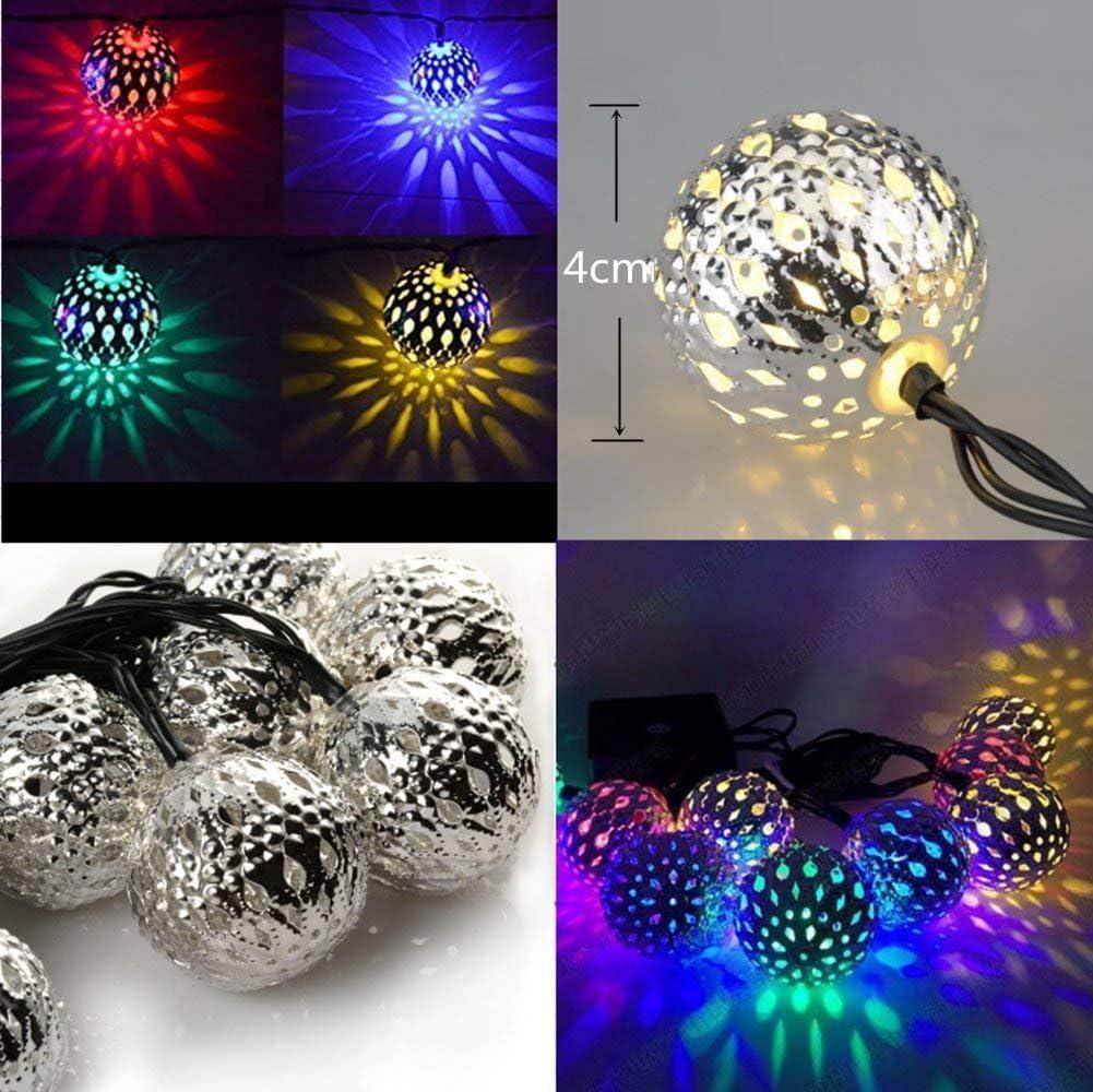Luces de Cadena de Marruecos, EONHUAYU Luces de Cadena Solares de ...