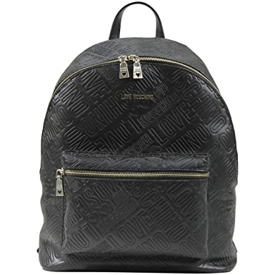 4707c2d43ea2 Amazon.com  Love Moschino Women s Embossed Logo Black Backpack Bag ...
