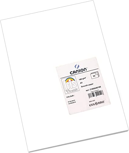 Oferta amazon: Canson Iris - Cartulina, 50 Unidades, Color Blanco