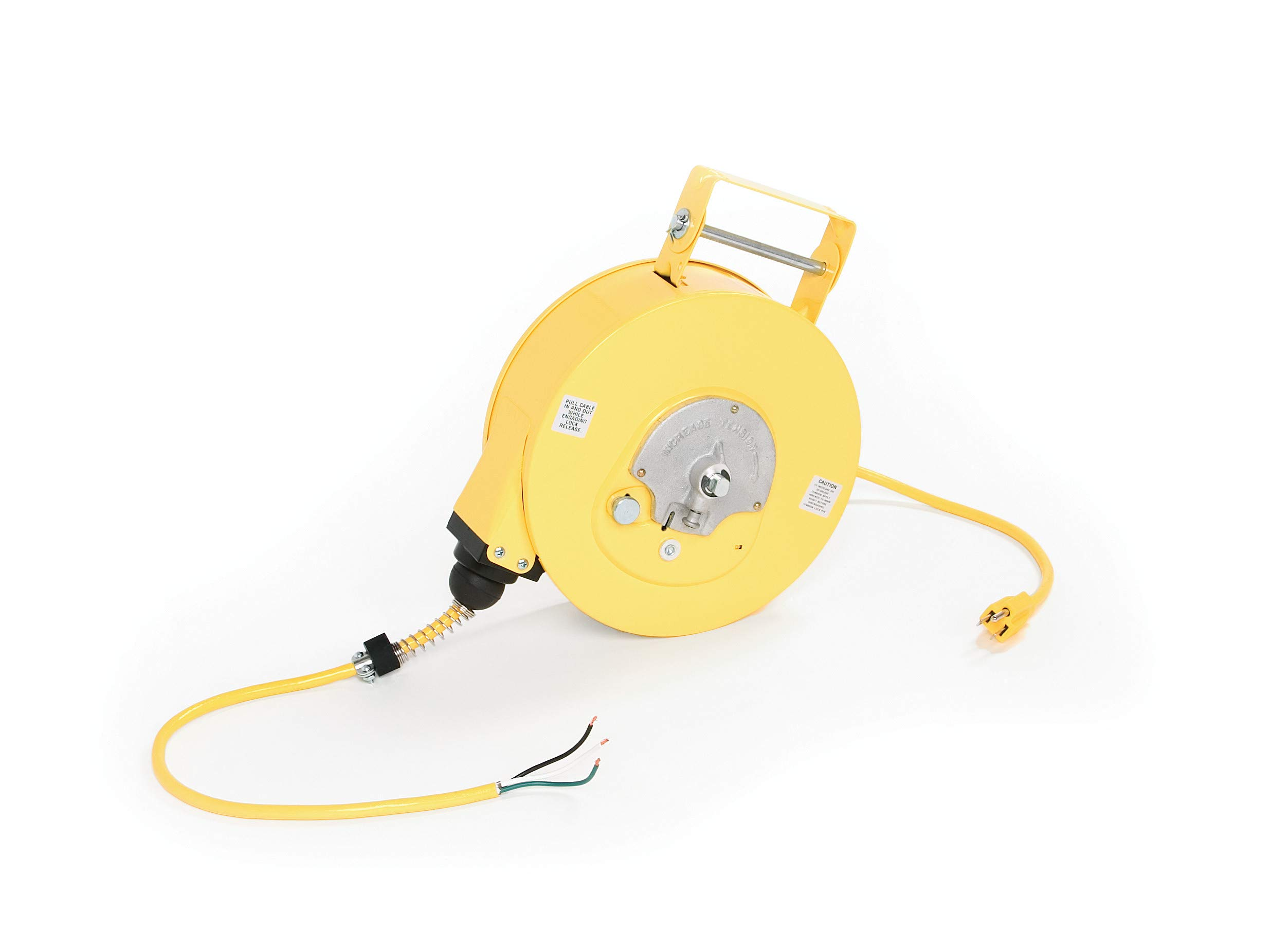 Woodhead 945-3 Cord Reel - NEMA 1 Extension Cord Case with 16/3 SJTOW, 35ft. Cord, 2A, Swing Mount, 2lb. Retraction Weight