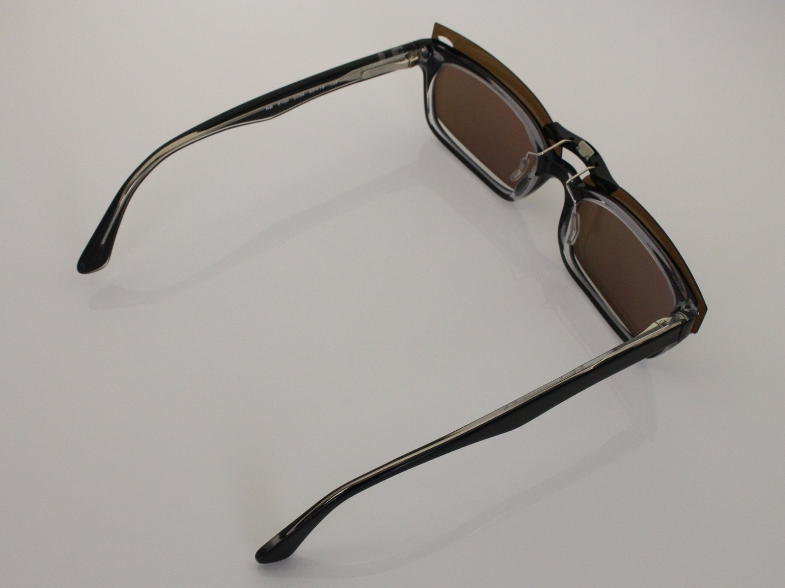 Custom Fit Polarized CLIP-ON Sunglasses For Ray-Ban RB5150 48X19 Brown by COODY (Image #5)