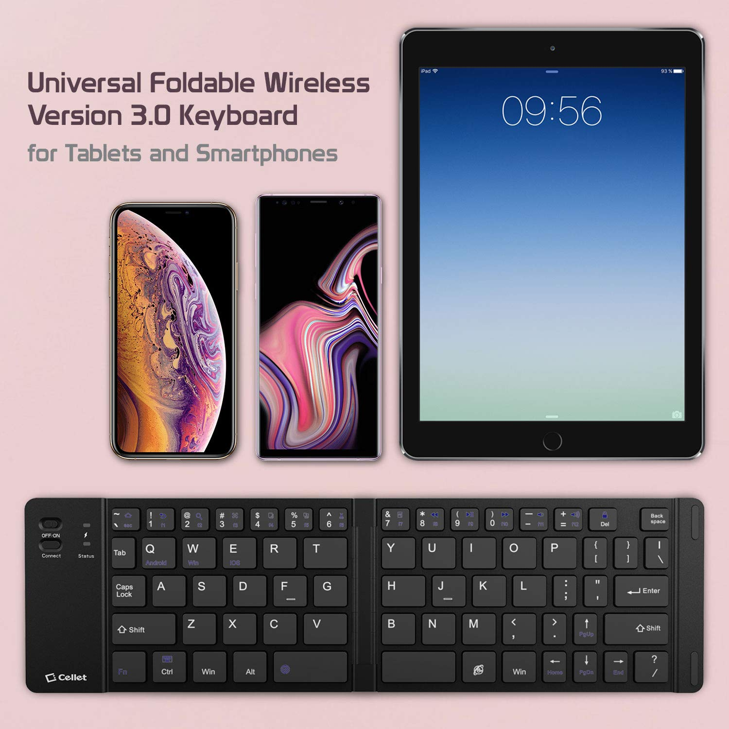 Cell-Stuff Wireless Folding Keyboard with Stand Compatible w/Moto G7 Power by Cell-stuff (Image #6)