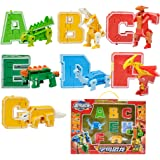 4pcs English Letters Transforming Robot Toy Kids Party Bag Fillers A B C D