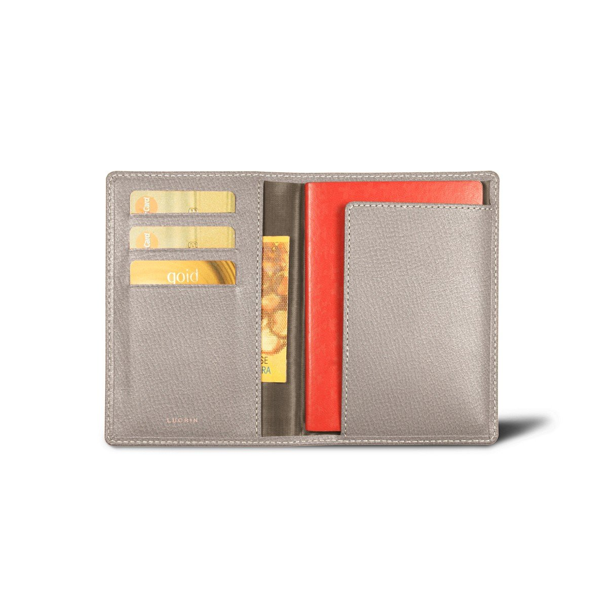 Lucrin - Passport and Loyalty Card Holder - Light Taupe - Goat Leather