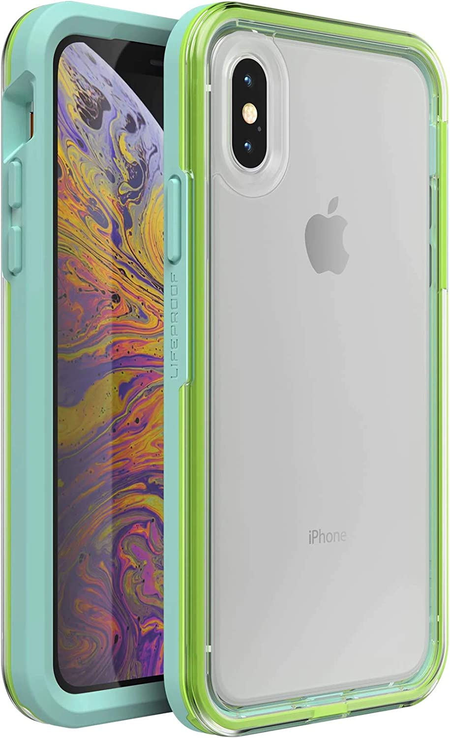 Lifeproof SLAM Series Case for iPhone X/XS (ONLY) - Retail Packaging - Sea Glass (Clear/Green/Blue)