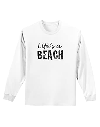 amazon tooloud lifes a beach adult long sleeve shirt clothing Pink Long Sleeve