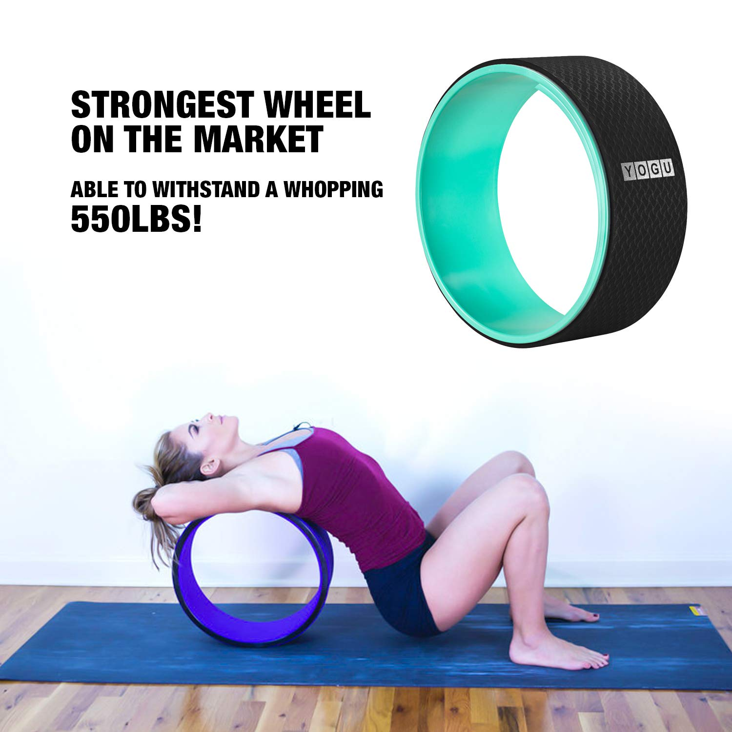 Amazon.com : YOGU Yoga Wheel for Stretching, Improve Yoga ...
