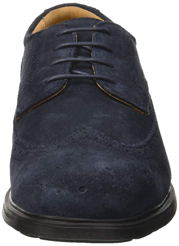 Geox u dublin b, scarpe brogue uomo, beige (smoke grey c9006), 46 eu