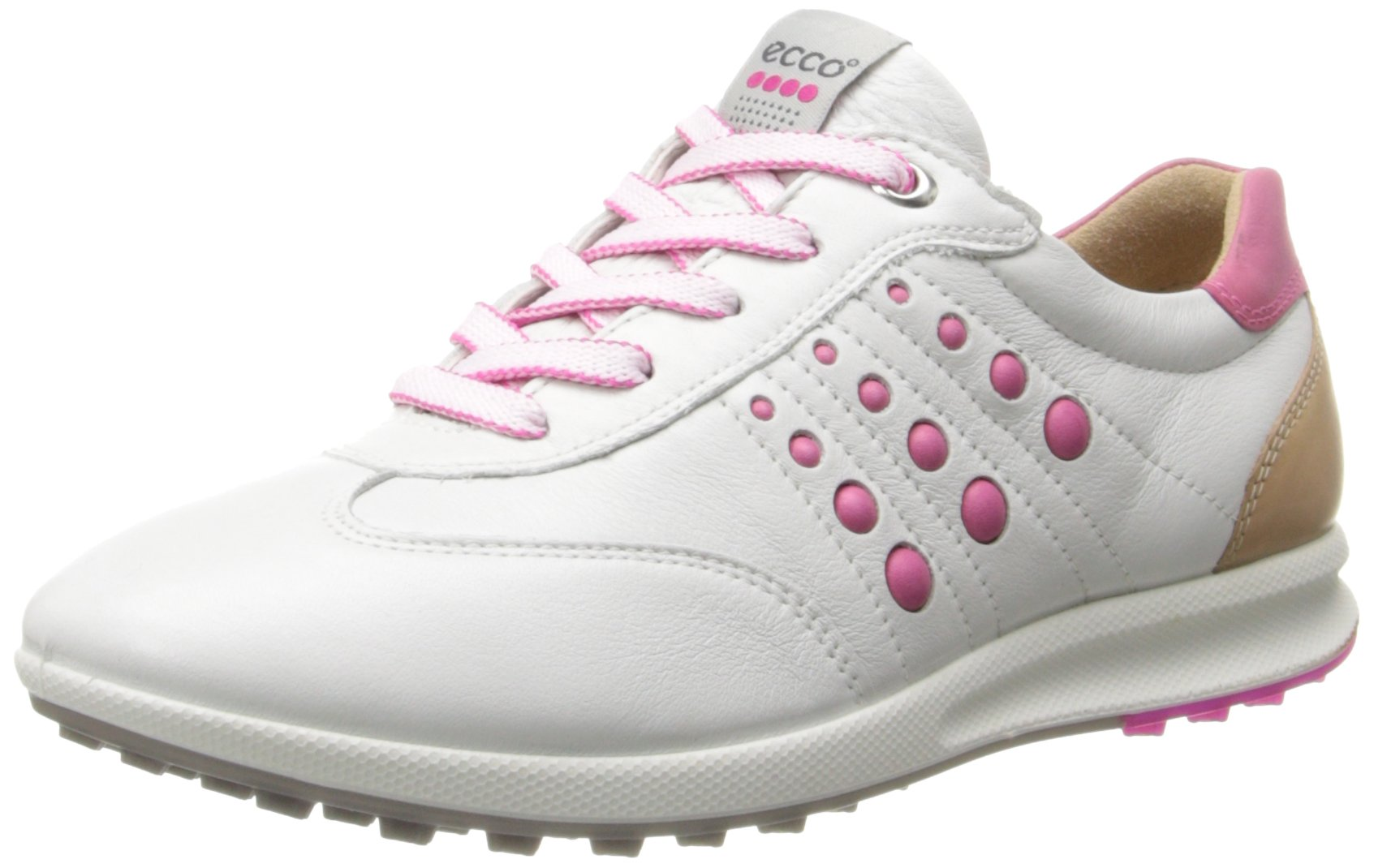 ECCO Women's Street EVO One Luxe Golf Shoe,White/Candy,41 EU/10-10.5 M US