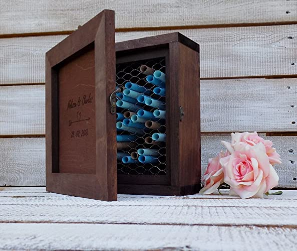 Amazon Com Wood Shadow Box Wooden Guest Book Wedding Drop Box Guest