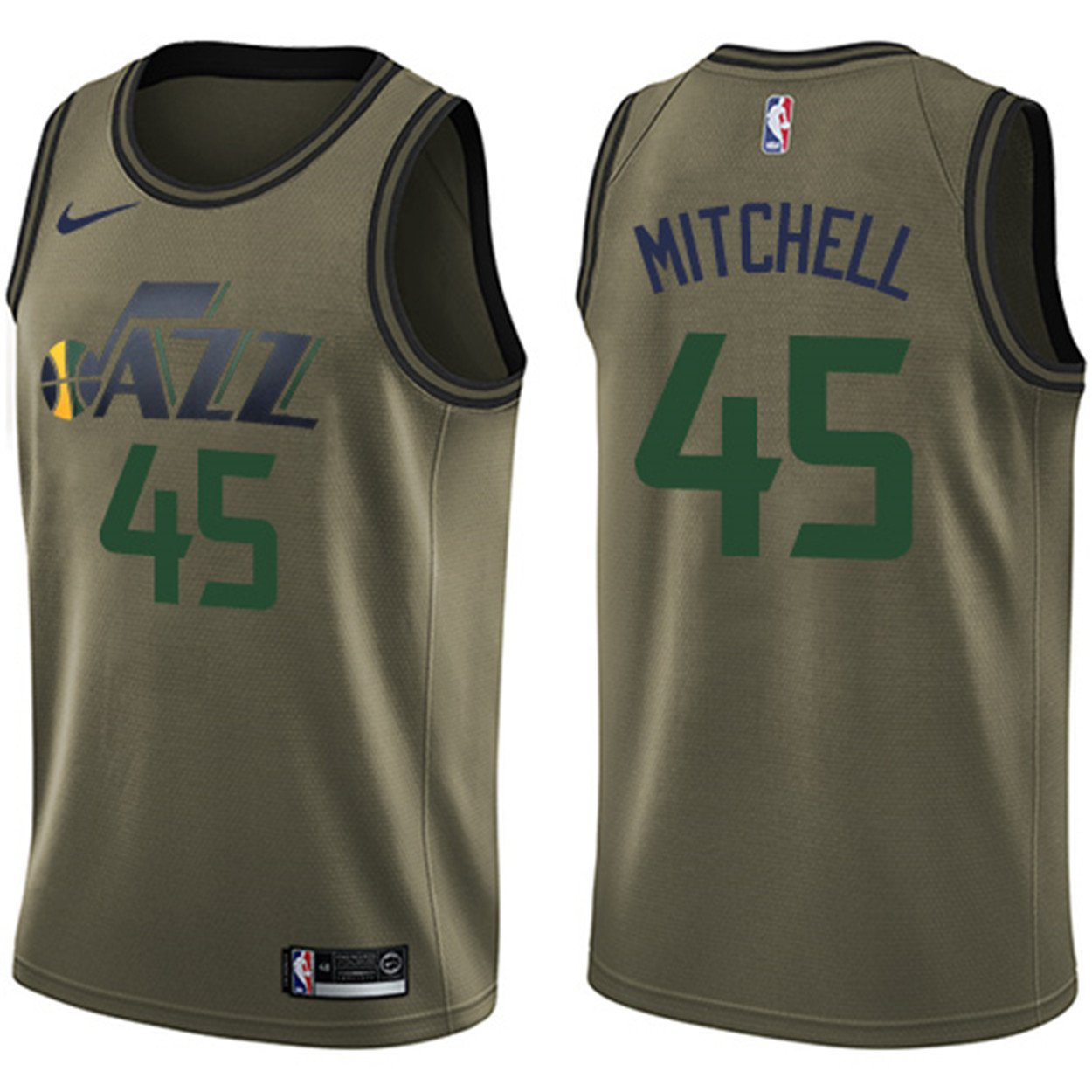 Nike Men s Utah Jazz  45 Donovan Mitchell Green Swingman Jersey Salute to  Service - Green - S  Amazon.co.uk  Clothing 4ee5b775a