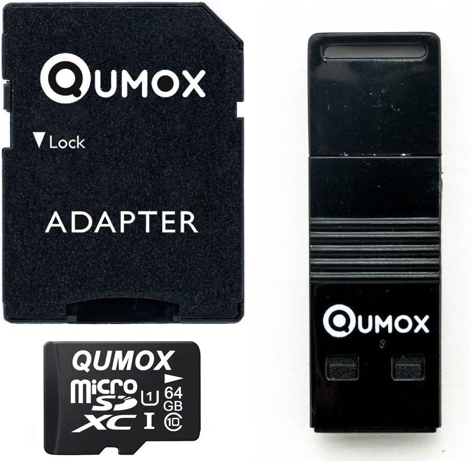 Qumox 64gb Microsd 10 Uhs I Speicherkarte 64 Gb Mit Otg Kamera