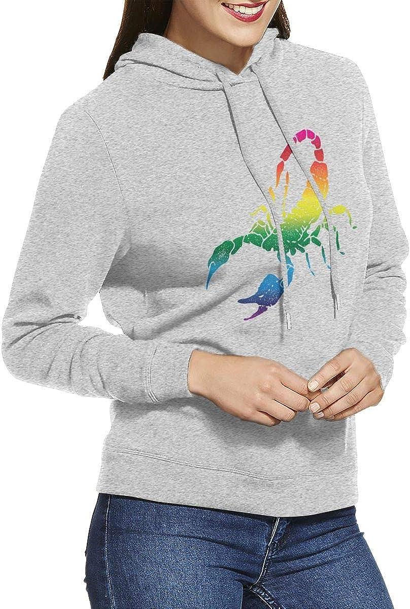 Negi Colored Scorpion Womens Casual Long Sleeve Hoodies Fashion Sweatshirts