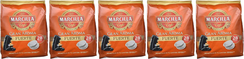 Marcilla Café Fuerte para máquina Senseo - 5 paquetes de 28 ...