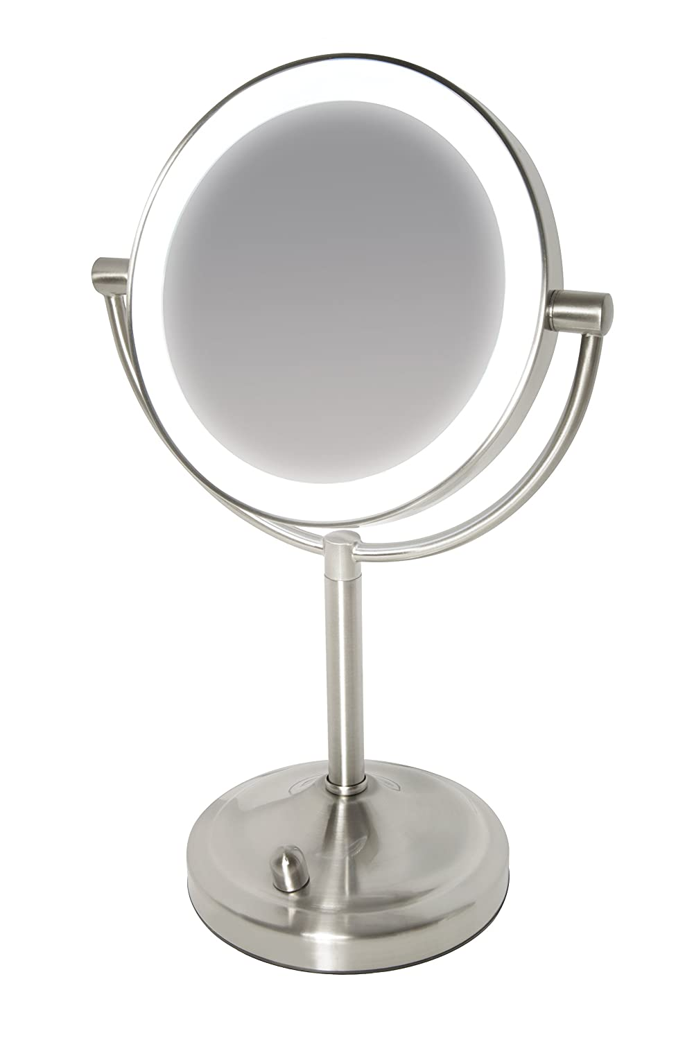 HoMedics Beauty Spa Double Sided Mirror with Dimmable LED – Perfect Addition to Dressing Table/Bathroom, Lighting for Make Up Application + Styling, Normal / 7x Magnification, Every Angle Flawless MIR-8150-EU