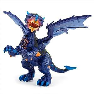 WowWee Untamed Legends Dragon - Vulcan (Dark Blue) - Interactive Toy