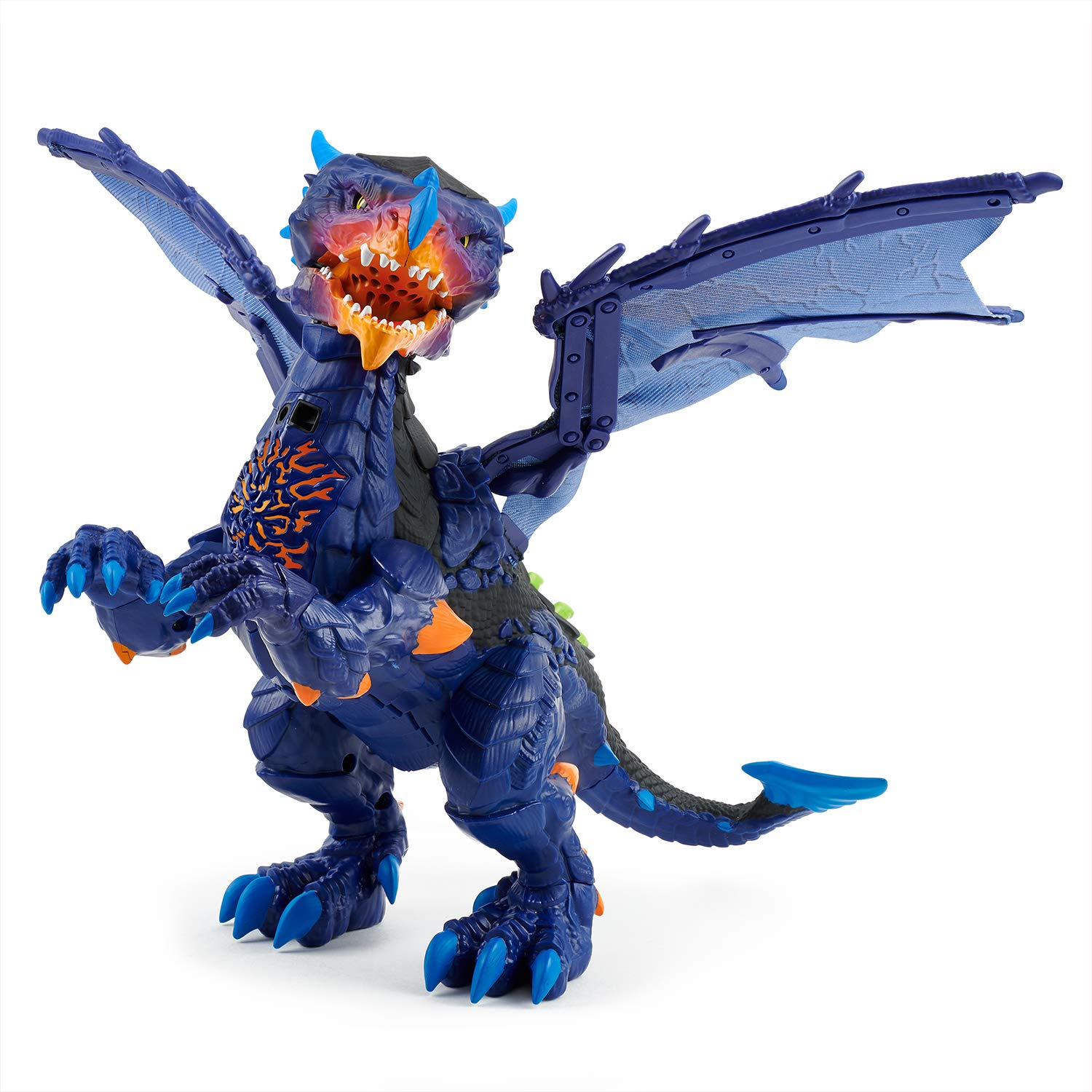 WowWee Untamed Legends Dragon - Vulcan (Dark Blue) - Interactive Toy