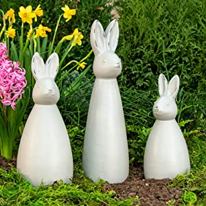 BRECK'S Bunny Trio Garden Statues - Bring Your Yard to Life with This Decorative Yard décor