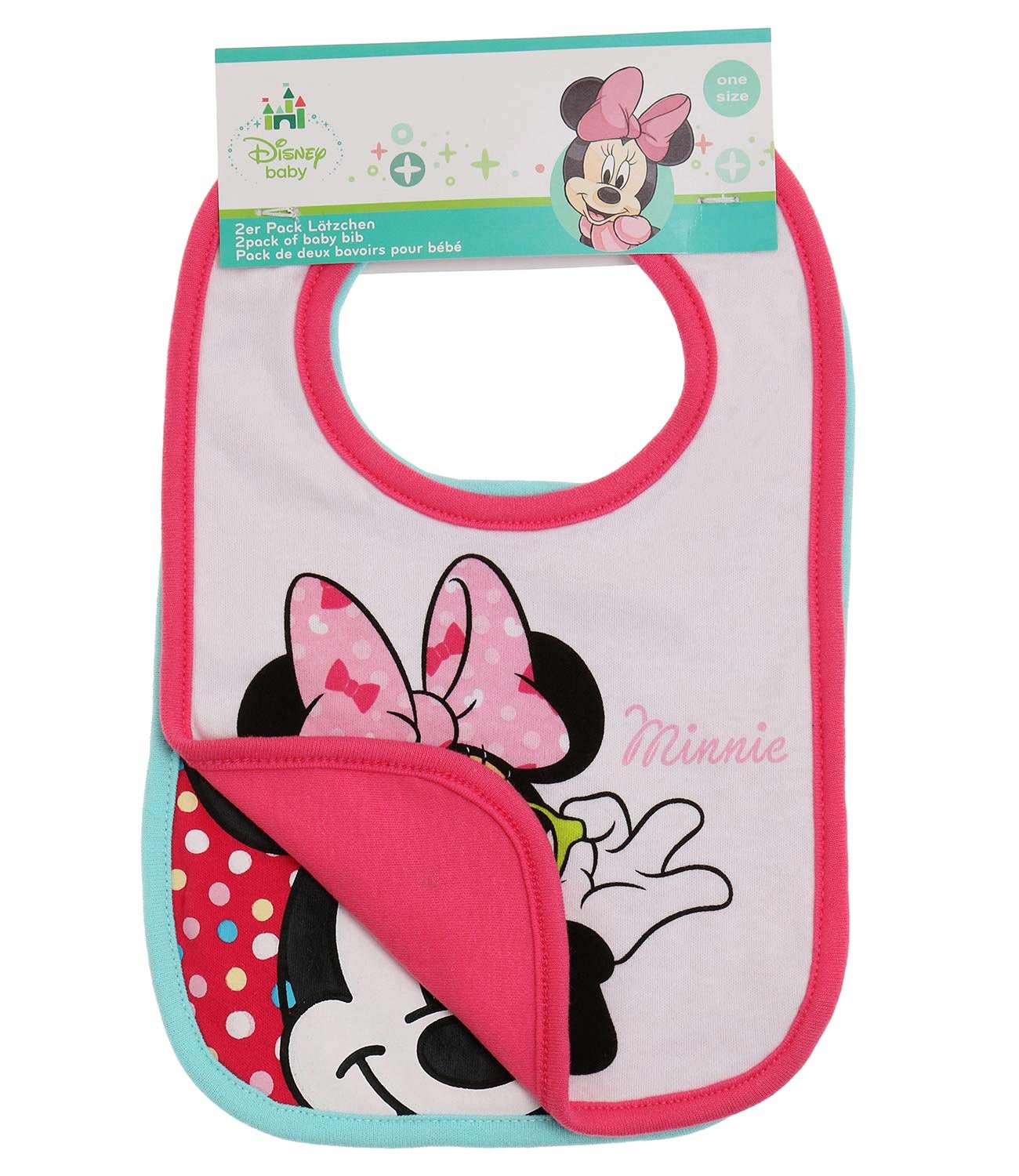 Disney Minnie Babies 2 pack bib 2016 Collection - fuchsia