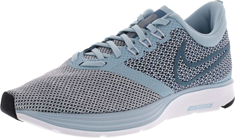 4ad9a3827dba Galleon - NIKE Women s Zoom Strike Ocean Bliss Noise Aqua Black Ankle-High Running  Shoe - 6.5M