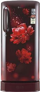 LG 190 L 4 Star Inverter Direct-Cool Single Door Refrigerator (GL-D201ASCY, Scarlet Charm)