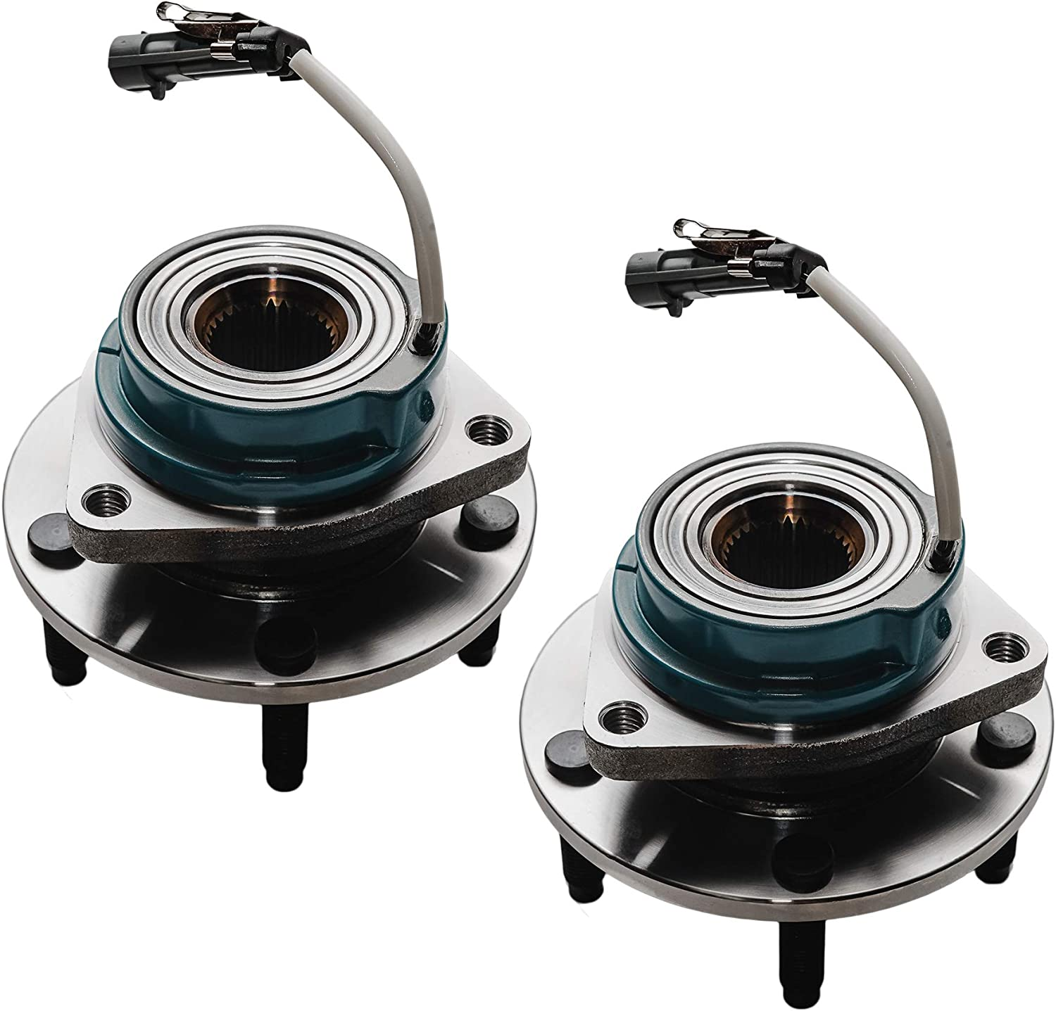 4pc Wheel Bearing Hub Set Front and Rear Wheel Bearing and Hub Assembly for Chevy Corvette Cadillac XLR Detroit Axle