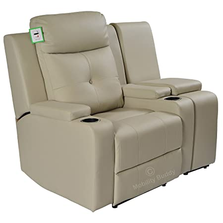 Miraculous Mobility Buddy Odeon Beige Bonded Leather Electrically Evergreenethics Interior Chair Design Evergreenethicsorg