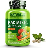 NATURELO Bariatric Multivitamin One Daily with 36 mg Iron - Best Supplement for...