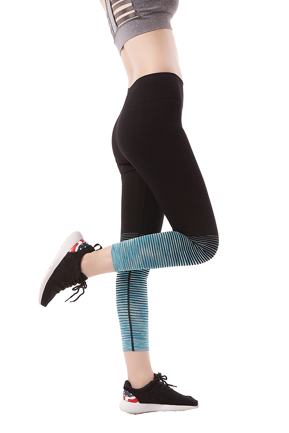 06e757a9b8 Material: Our high waisted women\'s yoga pants are made from  65%Nylon,30%Polyester,5%Spandex, cool, super soft and stretch to give you  freedom of movements ...