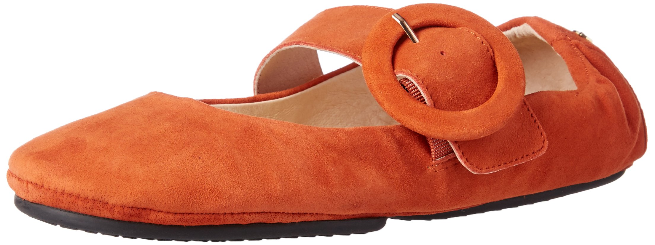 Yosi Samra Women's Stephanie Ballet Flat, Rust Brown, 10 M US