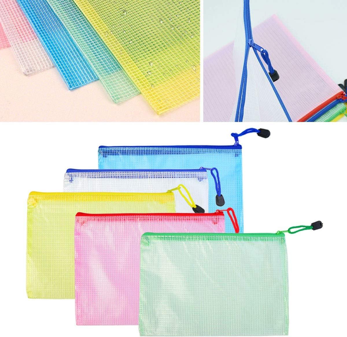 Kunststoff f/ür B/üro Schule Supplies Reisen lystaill 15/St/ück A5/Rei/ßverschluss Datei Tasche PVC-Netzstoff Dokument Tasche Geldb/örse