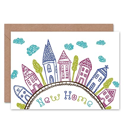 Amazon Com Wee Blue Coo New New Home Kids Drawing City Clouds