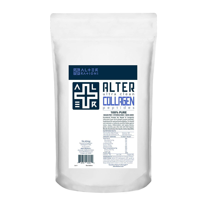 Amazon.com: ALTER+COLLAGEN | Ultra-Clean Grass-Fed Collagen Peptides Protein | 100% Pure. Professional-Grade. Hydrolyzed. Non-GMO. No Additives.