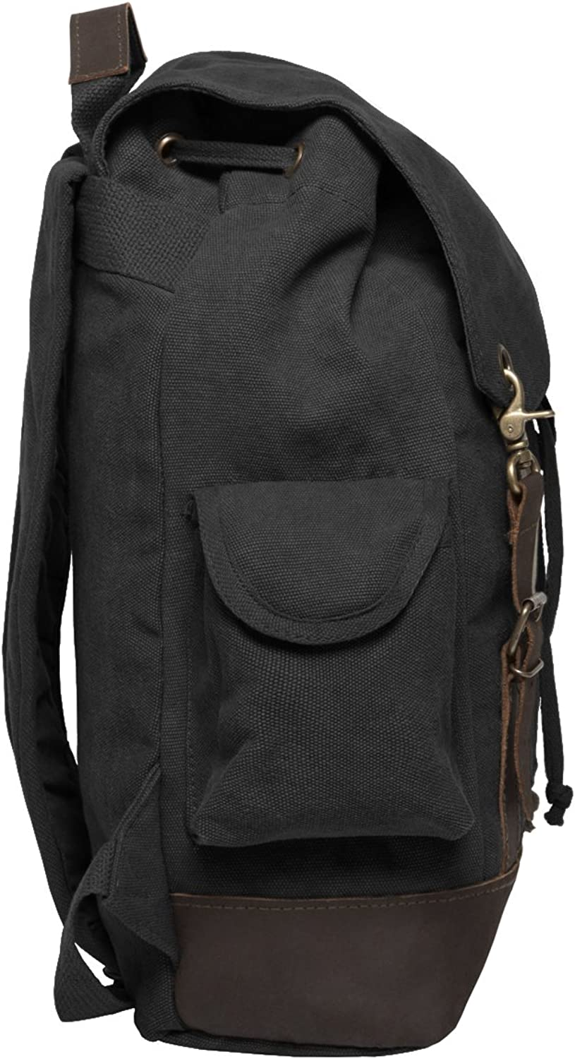 Flash Comic Superhero Vintage Canvas Rucksack Backpack with Leather Straps