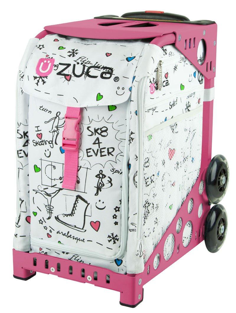 ZUCA Bag SK8 Insert & Pink Frame w/ Flashing Wheels