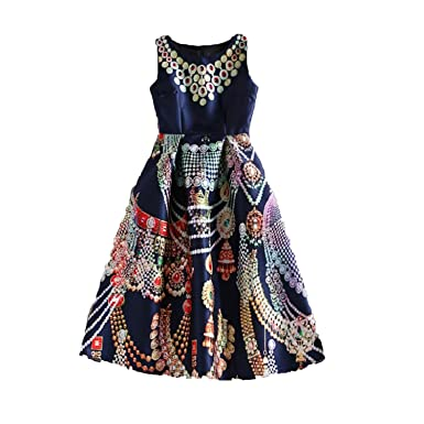 Collocation-Online Celebrity-Inspired Women Elegant Vintage Flower Floral Print Vest Dresses,01