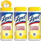 Lysol Disinfecting Wipes, Lemon & Lime Blossom, 35 Count, 3 Pack