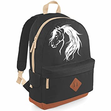 Luvponies Wild Heritage School Back Pack - for horse mad girl (Black ... 9b7f4bd294bc0