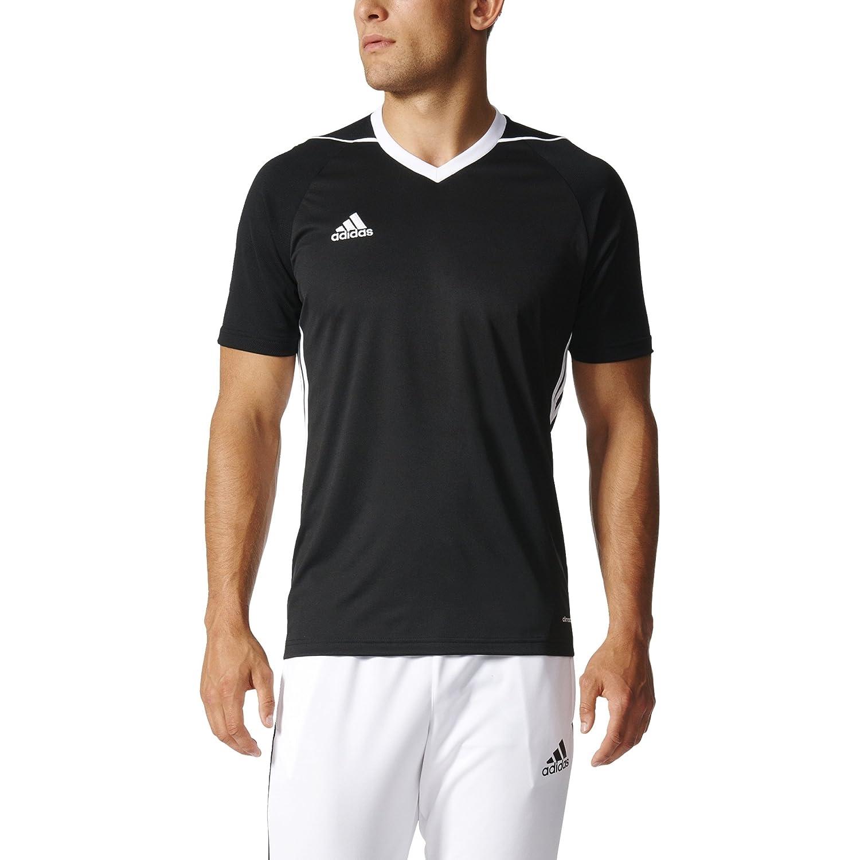 adidas SHIRT メンズ B01MSMQOK2 Medium|ブラック-ホワイト ブラック-ホワイト Medium
