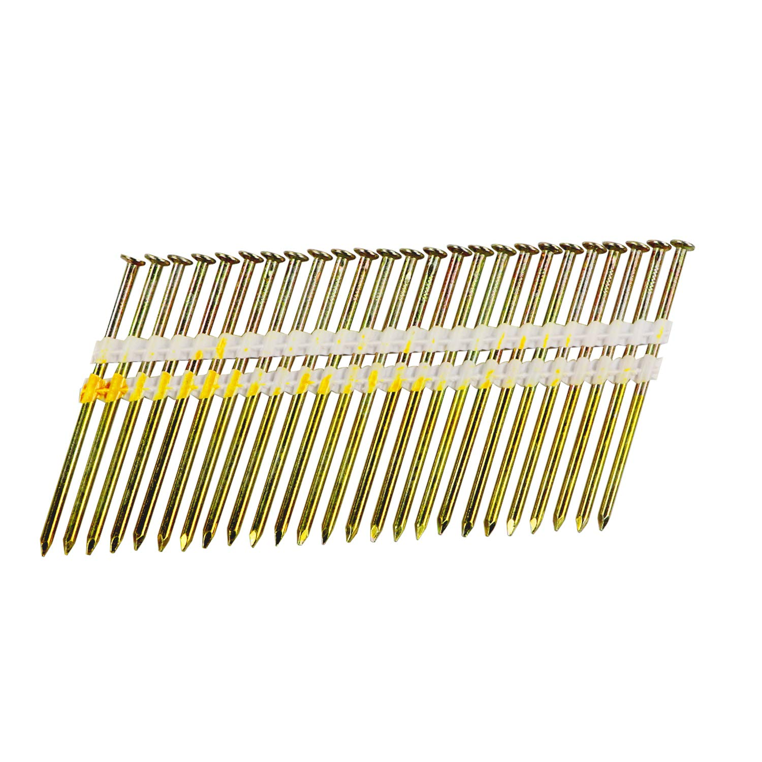 BHTOP 3 Inch Framing Nails, 21 Degree Bright Smooth Shank Plastic Collated Nails for Framing Nailer, 3 x .131,(1000 per Box) by BHTOP