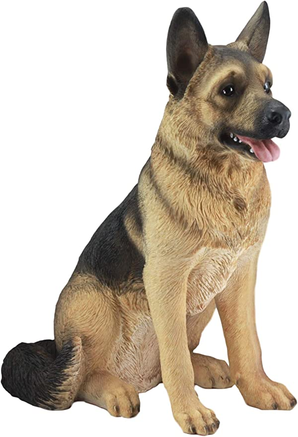 Amazon Com Ebros Large Lifelike Realistic German Shepherd Dog Statue With Glass Eyes 21 25 Tall Replica Collectible Dog Patio And Home Decor Sculpture Dogs Pets Puppies Decorative Home Kitchen