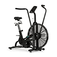 Capital Sports Strike Bike • Vélo d'appartement • Cardio-Trainer • Ventilateur à Résistance • Ordinateur • Bluetooth • Hauteur et Profondeur Réglables • Support de Tablette • Poids Max: 150Kg • Noir