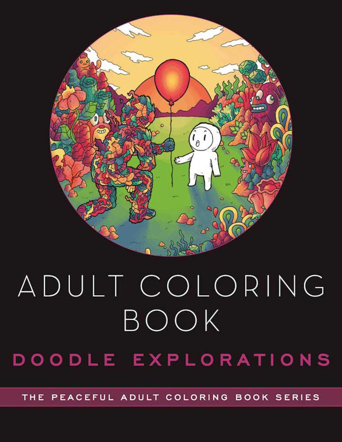 Adult Coloring Book: Doodle Explorations: Adult