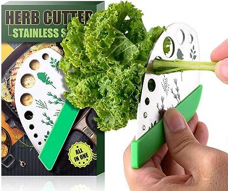 Vegetable Herb Stripper Peeler Leaf Remover Cutter Home Kitchen Peeling Tool Kit