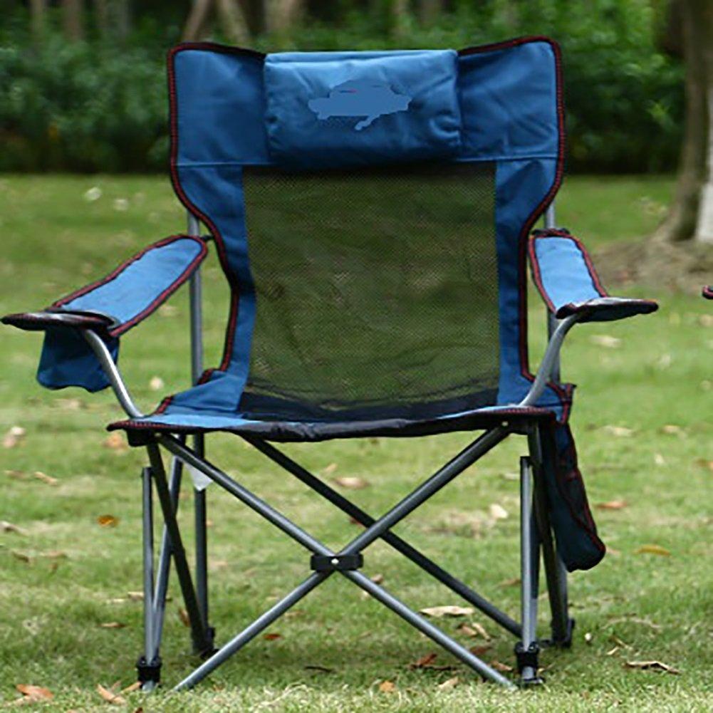 屋外折りたたみチェアオフィスランチラウンジチェア釣り椅子ポータブルキャンプビーチチェア家の椅子 B07D279PDK  青